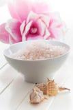 Wellness and bath salt Stock Photography
