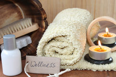 Wellness in the bathroom Royalty Free Stock Image