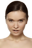 Wellness. Beautiful model face with clean skin Stock Photography