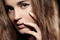 Wellness beauty. Clean face skin, make-up Stock Photography