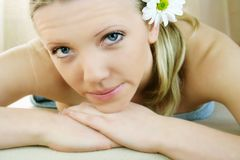 Wellness beauty portrait royalty free stock photography