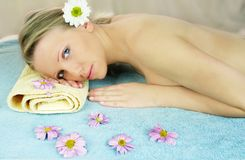 Wellness beauty portrait Stock Image
