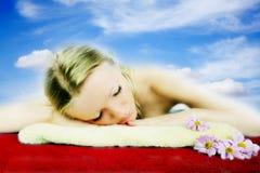 Wellness beauty portrait Royalty Free Stock Photography