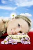 Wellness beauty portrait stock image