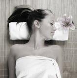 Wellness beauty portrait Stock Photo