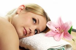Wellness beauty portrait Stock Photo
