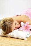 Wellness beauty portrait Stock Images