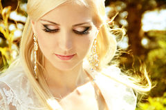 Wellness Blond Girl with make up Royalty Free Stock Photo