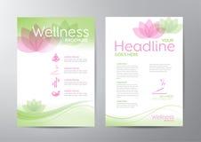 Wellness-Broschüre vektor abbildung
