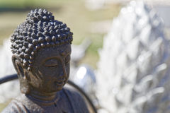 Wellness buddha. Buddha as a symbol for wellness and relaxiation Royalty Free Stock Photography