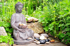 Wellness Buddha Stone Royalty Free Stock Images