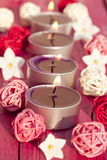 Wellness with candle light Stock Photo