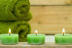 Wellness candles Stock Photo