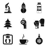 Wellness center icons set, simple style. Wellness center icons set. Simple set of 9 wellness center vector icons for web isolated on white background Stock Images