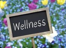 Wellness chalkboard Stock Photo