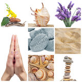 Wellness collage. A collage of nine pictures of different images of wellness stock image