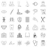 Wellness companies icons set, outline style. Wellness companies icons set. Outline set of 36 wellness companies vector icons for web isolated on white background Stock Photos