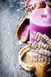 Wellness concept with lavender Royalty Free Stock Images