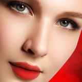 Wellness, cosmetics and chic retro style. Close-up portrait of s Royalty Free Stock Photo