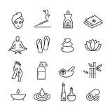 Wellness and cosmetics icons, healthy lifestyle Stock Photo