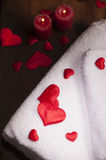 Wellness decoration. Valentine`s day Royalty Free Stock Photography