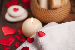 Wellness decoration. Valentine`s day Stock Images