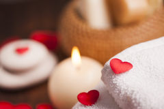 Wellness decoration. Valentine`s day Royalty Free Stock Image