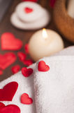 Wellness decoration. Valentine`s day Stock Photography