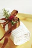 Wellness dei tovaglioli della STAZIONE TERMALE Fotografia Stock