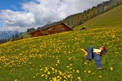 Wellness della montagna fotografia stock libera da diritti