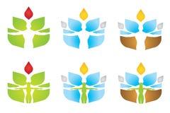 Wellness Elementów logo Fotografia Stock
