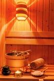 Wellness en kuuroord in de sauna Stock Afbeeldingen
