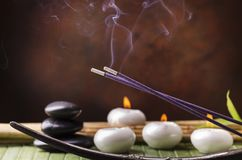 Wellness environment with aroma therapy stock photography