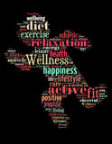 Wellness exercise, word cloud concept 4 Royalty Free Stock Photo