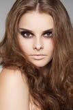 wellness för volym för skönhetomsorgshår lång model arkivfoton