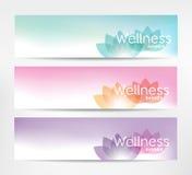 Wellness-Fahnen lizenzfreie abbildung