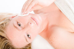 Wellness Girl Series Cleaning Royalty Free Stock Photos