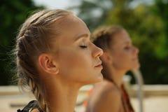 Wellness girls royalty free stock photo