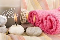 Wellness in grijs en roze Stock Afbeelding