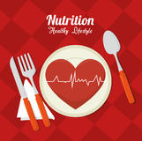 Wellness healthy lifestyle icons. Graphic design, vector illustration Stock Photos