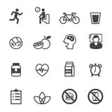 Wellness icons Stock Photo