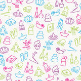 Wellness Icons Seamless Pattern Royalty Free Stock Photos