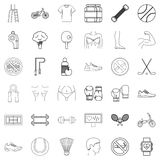 Wellness icons set, outline style Stock Photography
