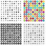 100 wellness icons set vector variant. 100 wellness icons set vector in 4 variant for any web design isolated on white royalty free illustration