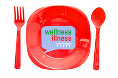 Wellness illness label Stock Photo