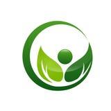 Wellness liścia ikona Zdjęcia Royalty Free