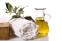 Wellness. Olive Bath Items Stock Images