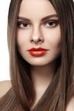 Wellness. Сosmetics. Woman with shiny long hair Stock Photography