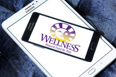 Wellness pet food logo Royalty Free Stock Images