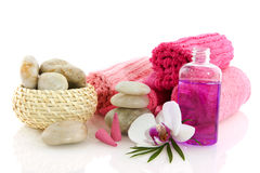 Wellness in pink Royalty Free Stock Photography